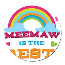 MeeMaw is the Best Round Car Magnet