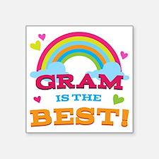 "Gram Is The Best Square Sticker 3"" x 3"""
