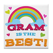 Gram Is The Best Tile Coaster