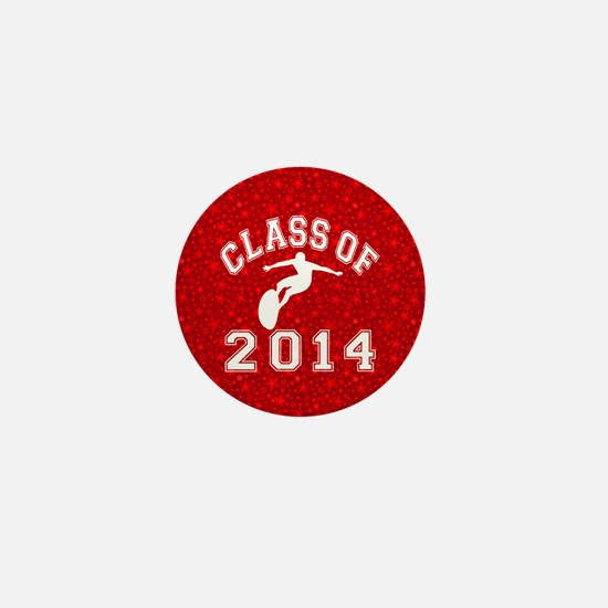 Class Of 2014 Surfing Mini Button