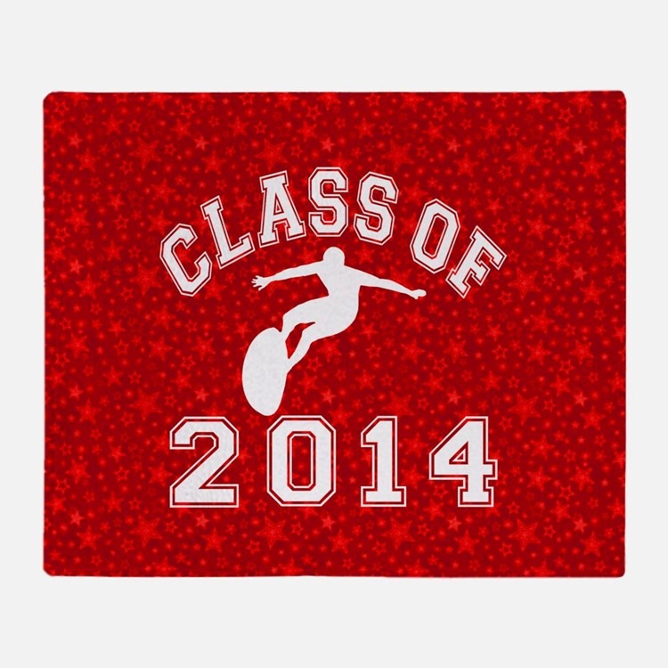 Class Of 2014 Surfing Throw Blanket