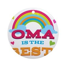 Oma Is The Best Round Ornament