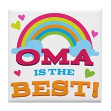 Oma Is The Best Tile Coaster
