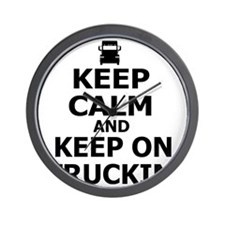 Keep Calm and Keep on Truckin Wall Clock