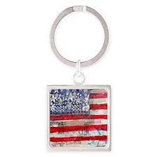 Flag Square Keychain