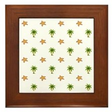Beach Themed Design Framed Tile