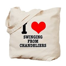 I Heart (Love) Swinging from Chandeliers Tote Bag