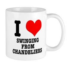 I Heart (Love) Swinging from Chandeliers Mug