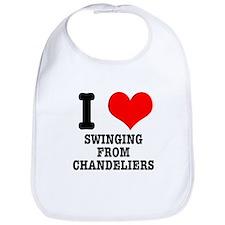 I Heart (Love) Swinging from Chandeliers Bib