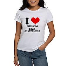 I Heart (Love) Swinging from Chandeliers Tee