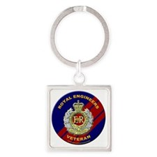 royal engineer veterant  Square Keychain