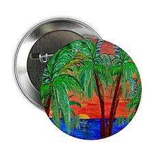 "Mountain Sunset Palms 2.25"" Button"