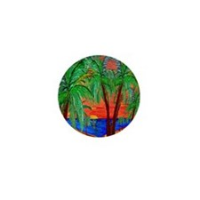 Mountain Sunset Palms Mini Button