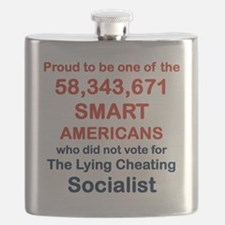 PROUD TO BE ONE OF THE 58,343,671 Flask