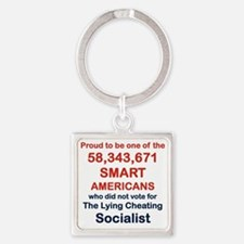 PROUD TO BE ONE OF THE 58,343,671 Square Keychain