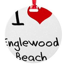 I Love ENGLEWOOD BEACH Ornament