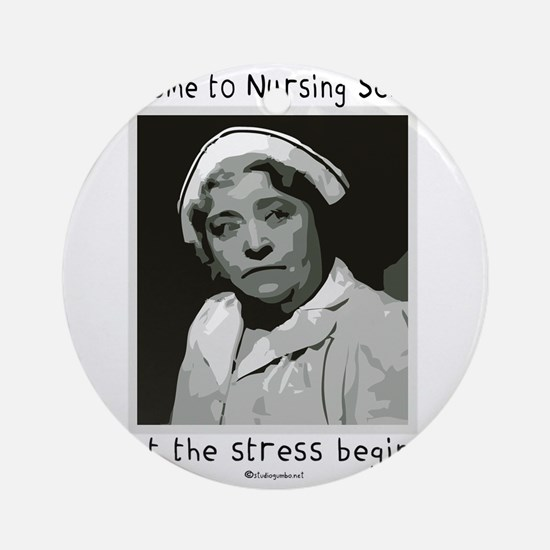 Welcome to Nursing School Round Ornament