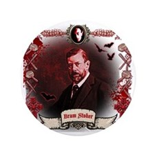 "Bram Stoker Dracula 3.5"" Button"