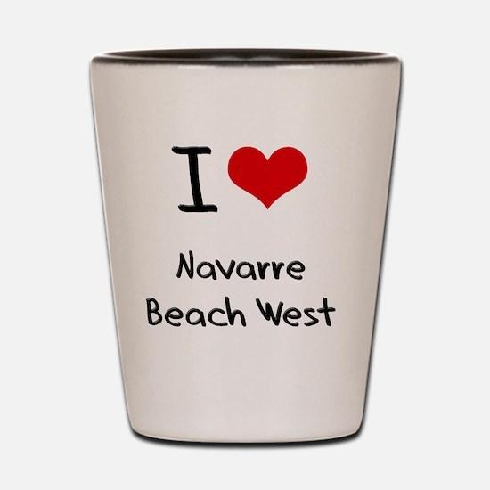 I Love NAVARRE BEACH WEST Shot Glass