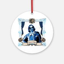 Oscar Wilde Dorian Gray Zombie Round Ornament
