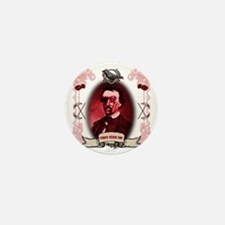 Edgar Allan Poe Raven Zombie Mini Button