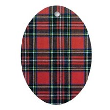Royal Stewart Tartan Oval Ornament