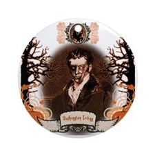 Washington Irving Sleepy Hollow Zom Round Ornament