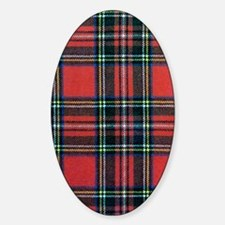 Royal Stewart Tartan Sticker (Oval)