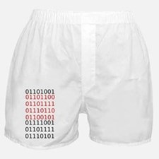 "Say ""I Love You"" in binary code Boxer Shorts"