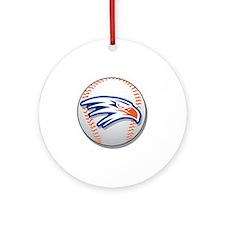 Hawks Baseball 1 Round Ornament