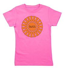 Faith Orange Girl's Tee