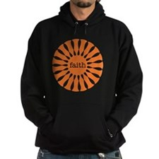 Faith Orange Hoodie