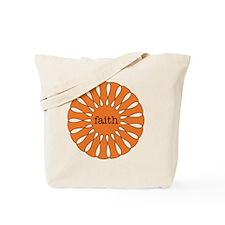 Faith Orange Tote Bag