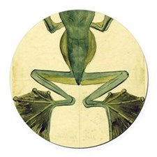 Wallaces Flying Frog large Round Car Magnet