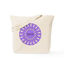Faith Purple Pendant Tote Bag