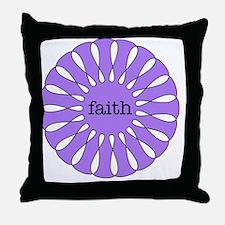 Faith Purple Pendant Throw Pillow