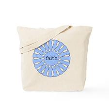 Faith Blue Pendant Tote Bag