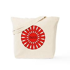 Faith Red Pendant Tote Bag