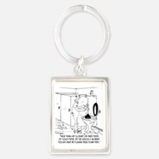Toilet Clogs With Three Sheets o Portrait Keychain