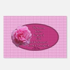 Psalm 19 1 Peony Postcards (Package of 8)