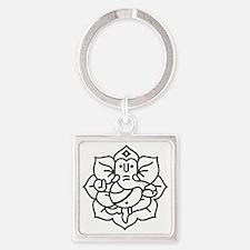 Ganesh Ganesa Ganapati 02_1c Square Keychain