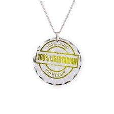 100% Pure Libertarian Necklace Circle Charm