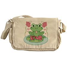 Valentine Frog with Love Messenger Bag