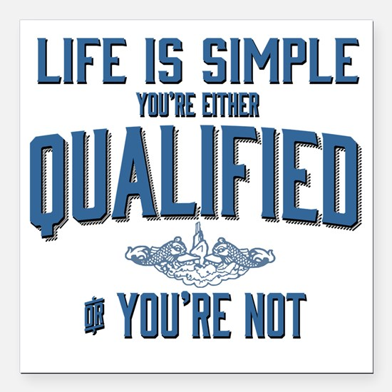 "Life is Simple: Youre Ei Square Car Magnet 3"" x 3"""