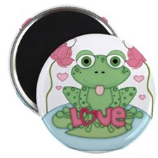 Valentine Frog with Love Magnet