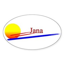 Jana Oval Decal