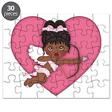 Valentine Cupid Afro American 2 Puzzle