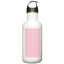 Dotted Circles 3x5 Whi Water Bottle