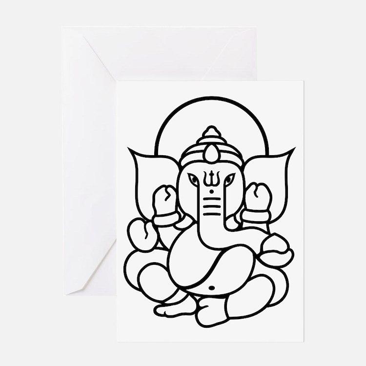 Ganesh Ganesa Ganapati 03_2c Greeting Card