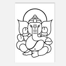 Ganesh Ganesa Ganapati 03 Postcards (Package of 8)